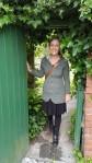 Standing in Beatrix Potter's garden at Hilltop!