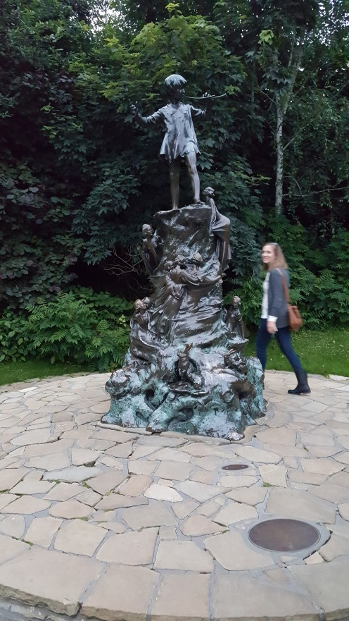 At Peter Pan's statue in Windsor Gardens